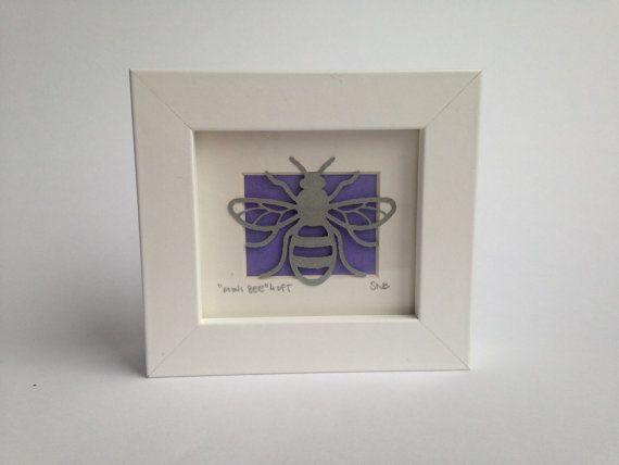 Mini Bee Framed Paper Cut
