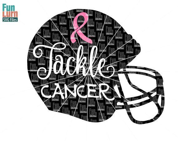 Football Breast Cancer SVG Breast Cancer Awareness by FunLurnSVG