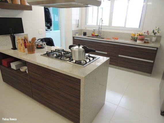 Cores claras de granito para cozinha