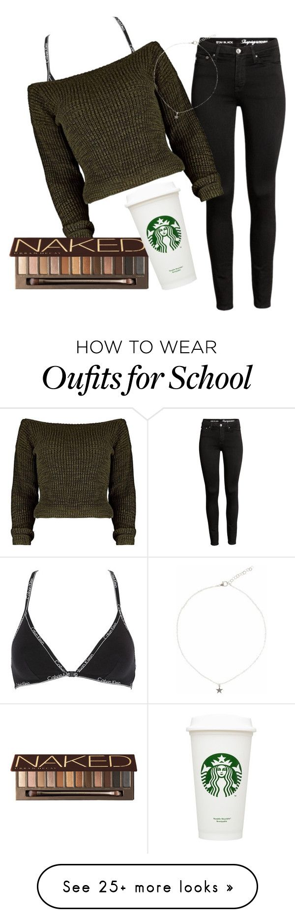 """""""School outfit 3"""" by bsteiinn on Polyvore featuring Calvin Klein Underwear, Urban Decay and Liz Law"""