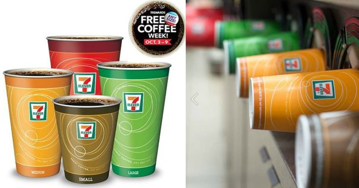 Download the 7-Eleven App to score a FREE cup of any size coffee during 10/3-10/9!