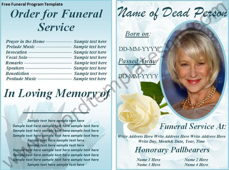 17 best images about memorial brochure and scripts on for Funeral handouts template