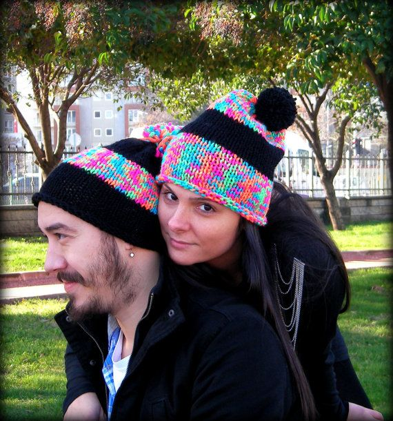 Special Hat for Valentines Day  For lovers, two hats  A perfect gift for that special person in your life. It is a very cozy, warm and soft accessory.  It
