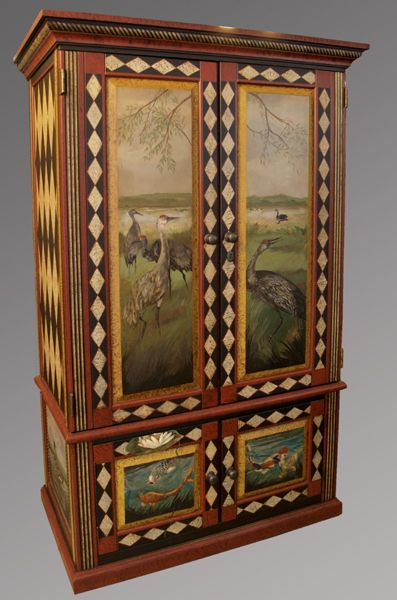 Woodsy painted armoire