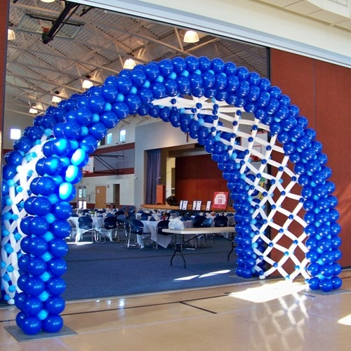 Blue And White Decorations 1221 best balloons images on pinterest | balloon decorations