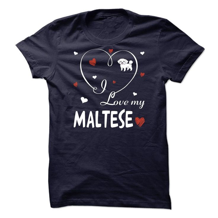 Maltese T-Shirts, Hoodies. CHECK PRICE ==► https://www.sunfrog.com/Pets/Maltese-111028466-Guys.html?id=41382