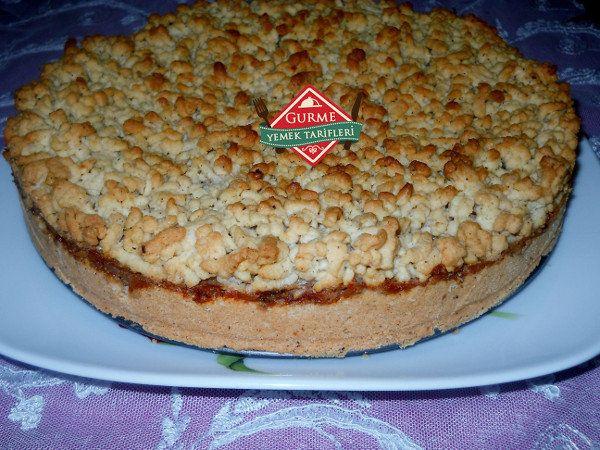Kaymaklı Elmalı Tart - Pratik Yemek Tarifleri. Gurme resimli kolay pratik Kaymaklı Elmalı Tart nasıl yapılır yapılışı yapımı hazırlanışı