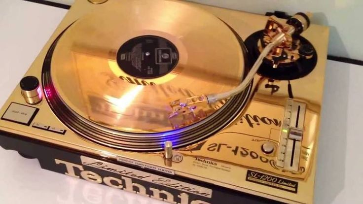 Technics SL-1200 Limited Edition in GOLD.