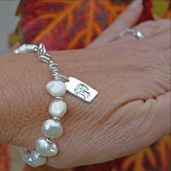Sauce árbol pulsera de perlas pulsera de la perla
