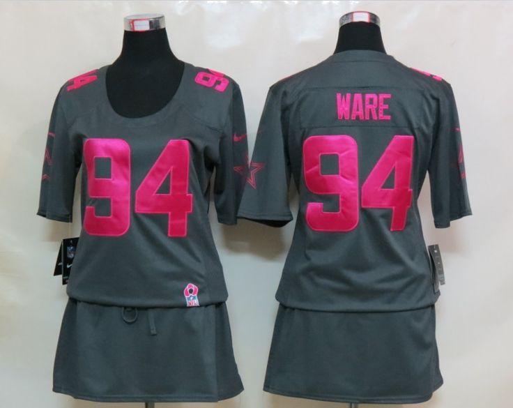 on sale 5f95e be74c nike dallas cowboys 94 demarcus ware pink sweetheart diamond ...
