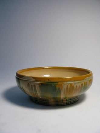 bowl, hand painted 'glaze'