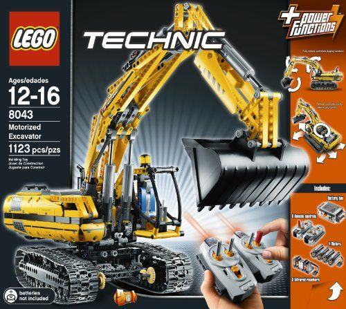 LEGO TECHNIC  Motorized Excavator 8043 - https://www.zotero.org/bricksandblocks/items/6U25C3QV
