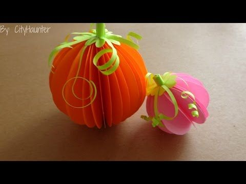 DIY - Calabazas en 3D para halloween // Decoración Facil - YouTube