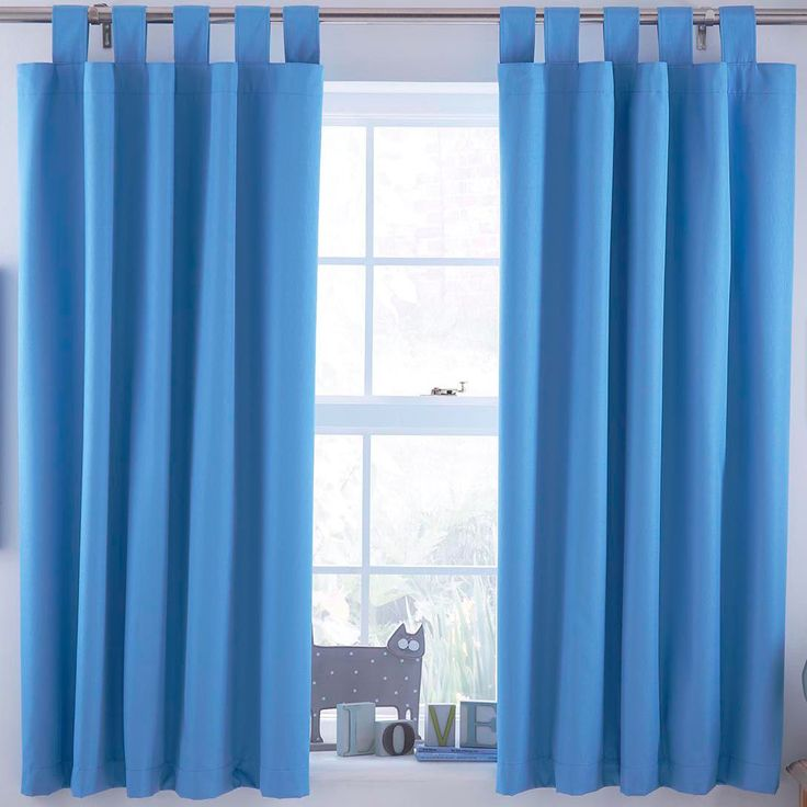ardella blue plain tab top blackout blackout curtains w168 cm l137 cm