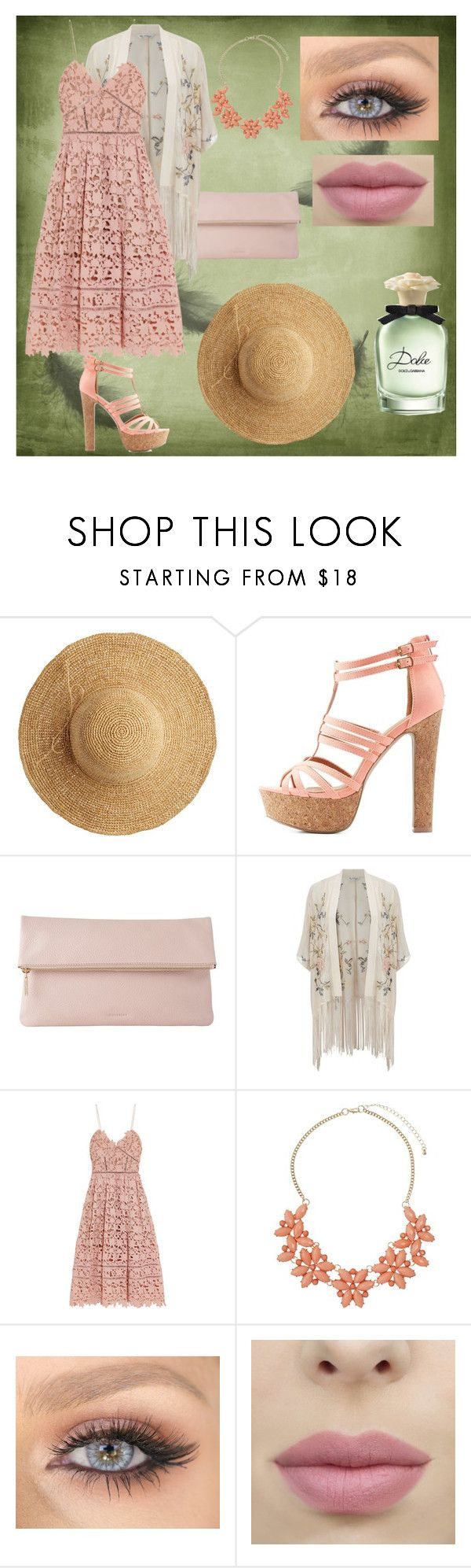 """Dolce"" by klaunela on Polyvore featuring moda, Flora Bella, Charlotte Russe, Whistles, Miss Selfridge, self-portrait, Dorothy Perkins y Dolce&Gabbana"