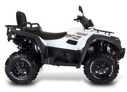 White 1000 LT farm quad side view. The TGB farm quad range offers an excellent choice of specifications and value for money. For more information or a quotation, please visit our website http://www.fresh-group.com/farm-quad.html or call us on 0845 3731 832