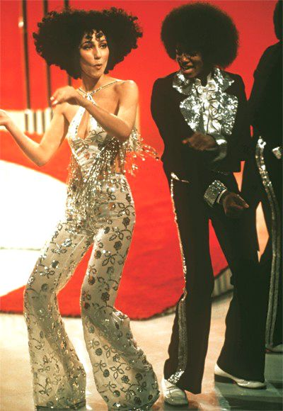 Cher & Michael Jackson - 70s inspiration for CATs Vintage - 1970s style - fashion