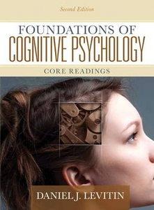 Foundations of Cognitive Psychology: Core Readings 9780205711475 by Levitin  Cheapest textbook http://textbooksandbooks.blogspot.com.au/