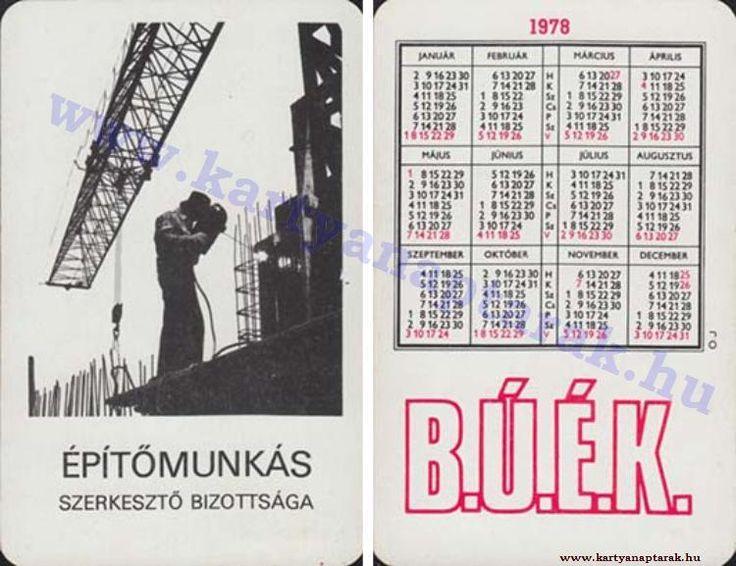 1978 - 1978_0925 - Régi magyar kártyanaptárak