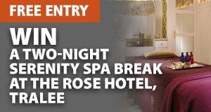 Win a Two-night Serenity Spa Break at The Rose Hotel, Tralee - https://www.competitions.ie/competition/win-two-night-serenity-spa-break-rose-hotel-tralee/