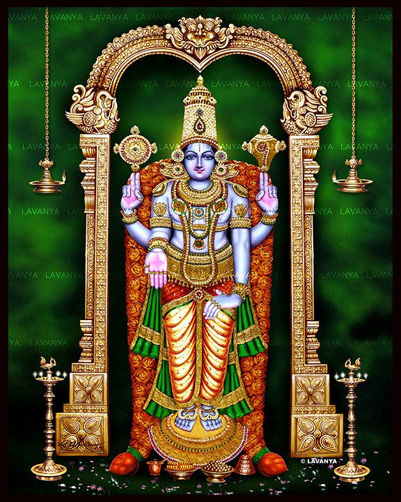 https://flic.kr/p/zHWsUh | Lavanya's Tanjore skintone balaji | Lord Venkateshwara also Famously known as Srinivasa, Tirupati balaji and Venkatachalapati, is a form of the Hindu god Vishnu. Venkateswara means the Lord who destroys the sins of the people. According to the Hindu scriptures, Vishnu, out of love towards his devotees, incarnated as Venkateswara and appeared for the salvation and upliftment of humanity in this Kali Yuga and is considered the supreme form of Vishnu in this age.  It…