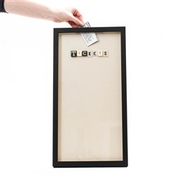 Make one of these with a shadowbox - great idea for storing old game/concert/movie tickets.