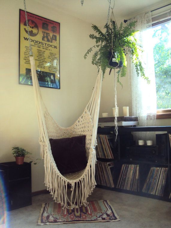 Handmade Macrame Hammock Chair - Best 25+ Indoor Hammock Chair Ideas On Pinterest Swing Chair