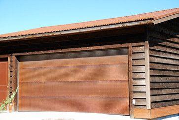 Rustic Corrugated Metal Garage Door Metal By Bridger