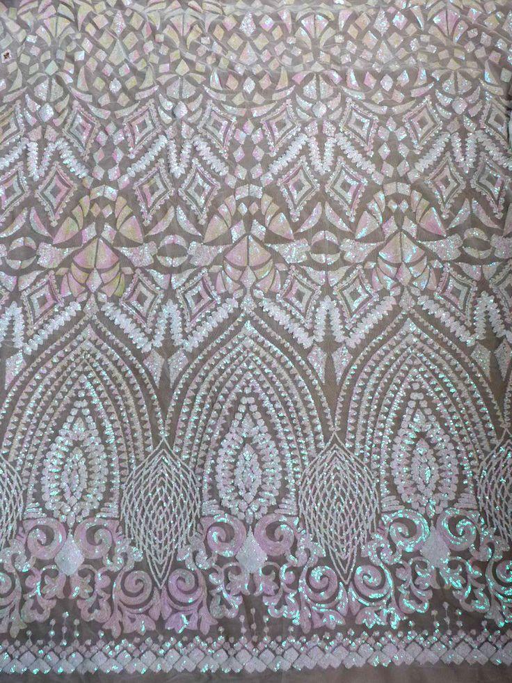 Магия розовые блестки на белый сетка вышитые свадебное платье/вечернее платье шнурка ткань 51 ''ширина 1 ярд купить на AliExpress