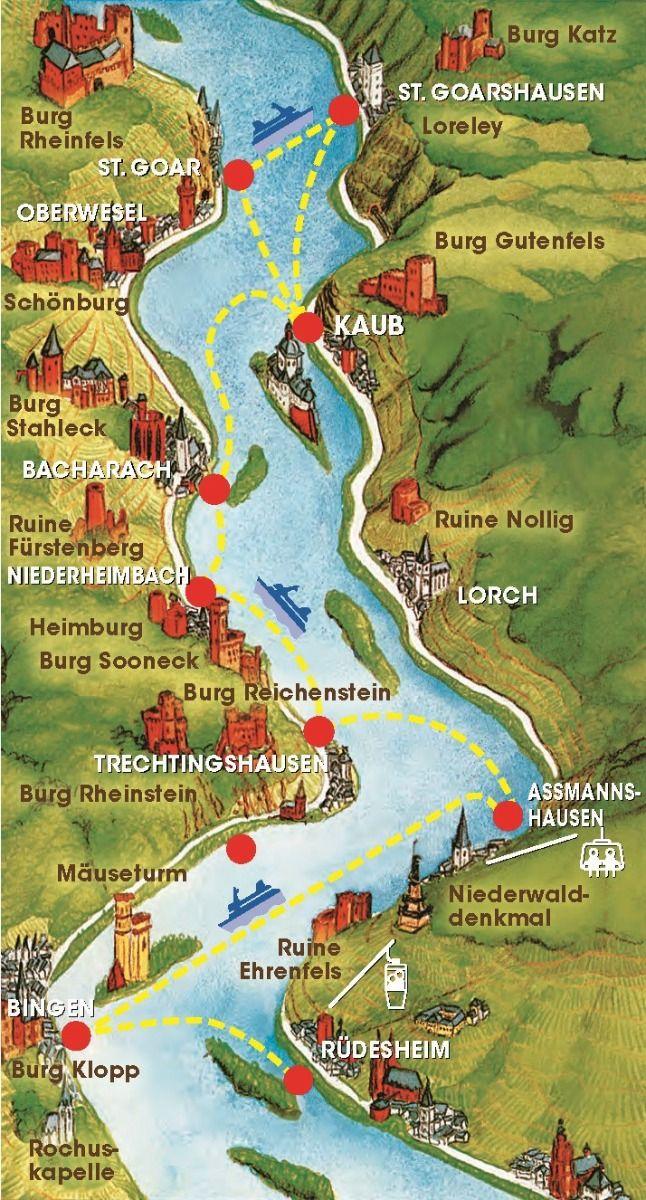 Mehr Rhein Geht Nicht Bingen Rudesheimer Fahrgastschifffahrt Loreleyfahrt Romantikreisen Bingen Am Rhein Rudesheim Am Rhein