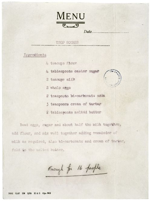 Queen Elizabeth's recipe for scones