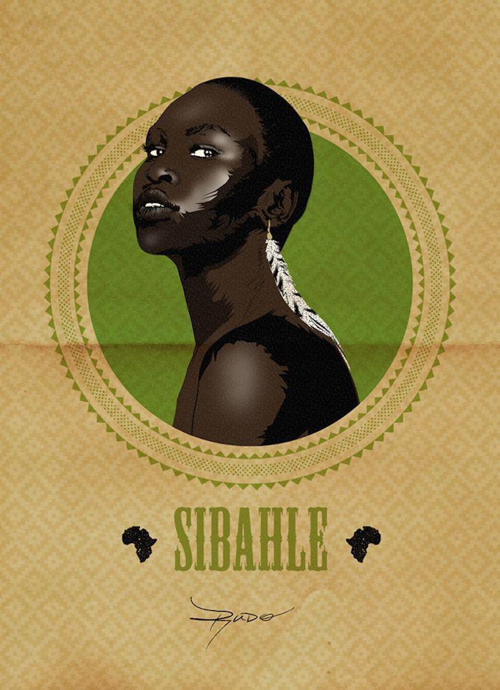 Alek Wek, South Sudanese British model and fashion designer - Phenomenal African Women Celebrated In Posters For Women's Day Okayafrica.