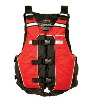 With a short-waisted design for comfort and ease of movement this is a great life vest for outfitters, rental fleets and private rafters. Buy online in Australia at Big Water.