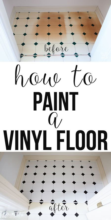 How to fix a damaged vinyl floor. Use this paint to do it so it lasts. | In My Own Style