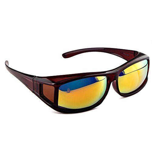 ACTIVE SOL Sur-lunettes solaires pour homme | Sur-lunettes solaires UV400 | polarisées | Sur-lunettes polarisantes pour porteurs de lunettes