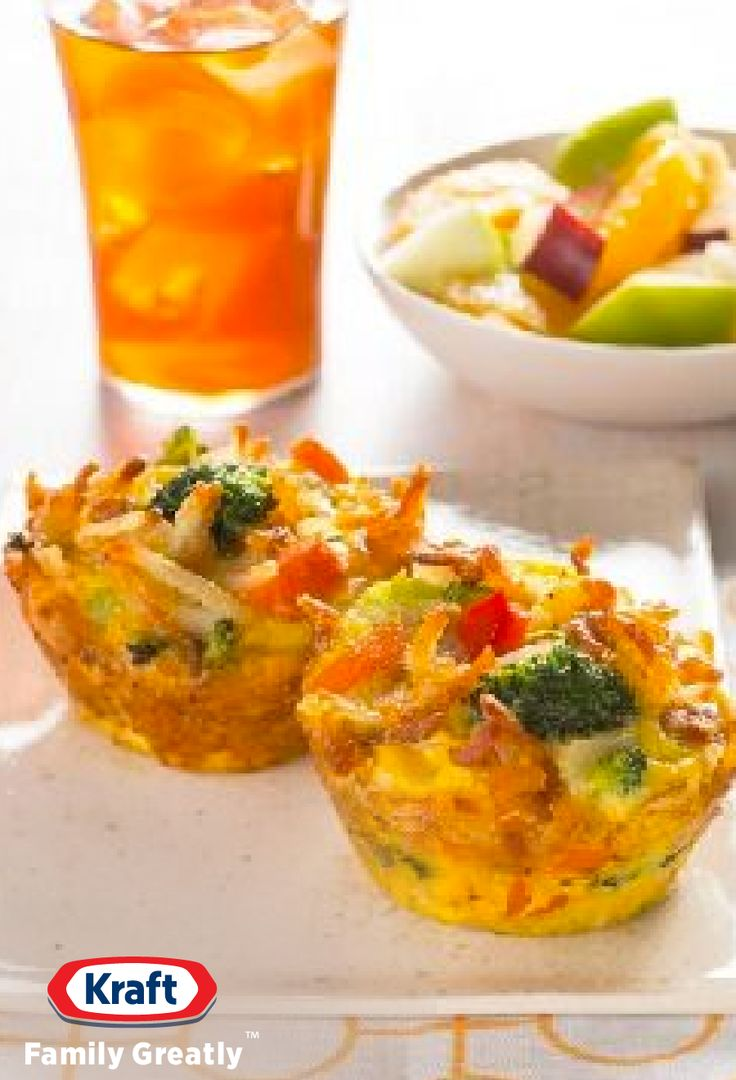 Veggie Frittata Cups — Here's a brunch frittata you'll like a lotta—made mini-style in a muffin tin with eggs, hash browns, veggies and cheese.