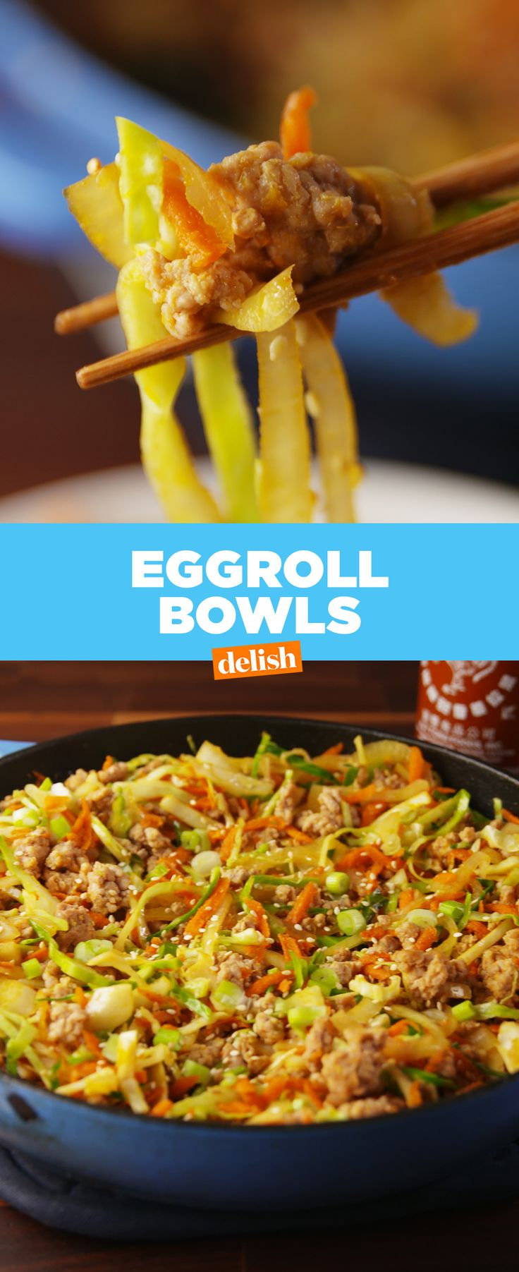 This tastes just like an egg roll, without all of the carbs. Get the recipe at Delish.com