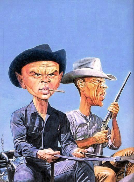 Yul Brenner & Steve McQueen