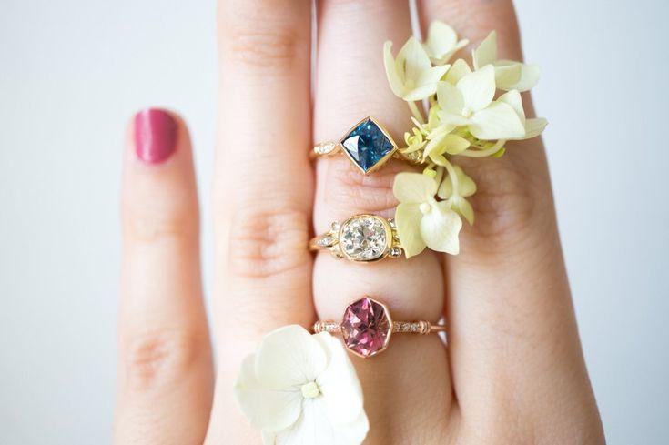 Belle Epoch Old Mine Cut Diamond Ring by S. Kind & Co.