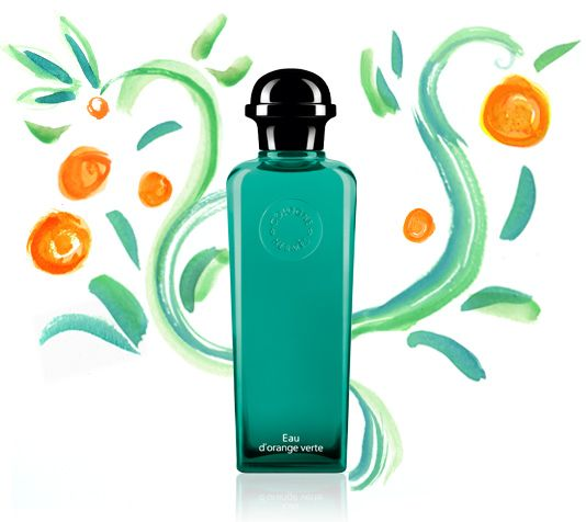 Hermès / Eau d'orange verte / The founding Cologne. An intense and invigorating freshness with a woody signature.