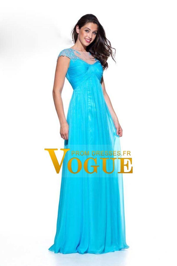 2016 Bateau plissé corsage A-ligne robe de bal en mousseline de soie et tulle avec appliques € 143.29 VGFPQ81JJZC - VoguePromDresses.fr for mobile