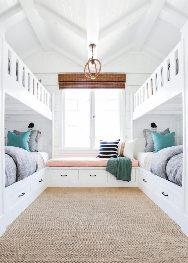 I really like the window seat with storage, but I bet it would end up being covered with phones, books, etc. Might be better to make it more like a nightstand.