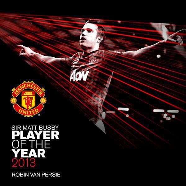 Robin Van Persie wins the Sir Matt Busby Player of the Year award..