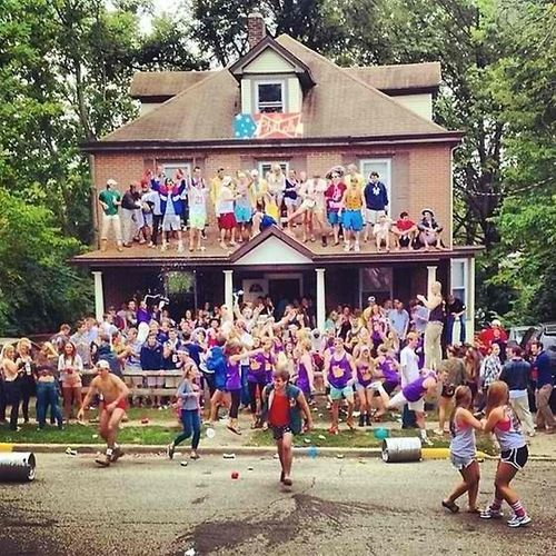 This picture describes what most college freshman think parties are going to be like in the beginning of the year. However, this is false and is a sense of hyperreality when it comes to college parties. (Observation)