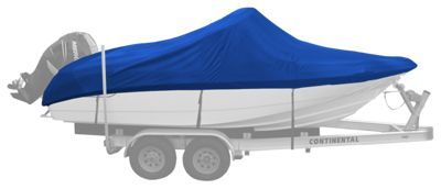 Bass Pro Shops Select Fit Hurricane Boat Covers for Center Console Models with Bow Rail - Blue - 19'6'' to 20'5''