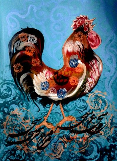 Rooster painting in2015