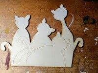Kočičky z překližky
