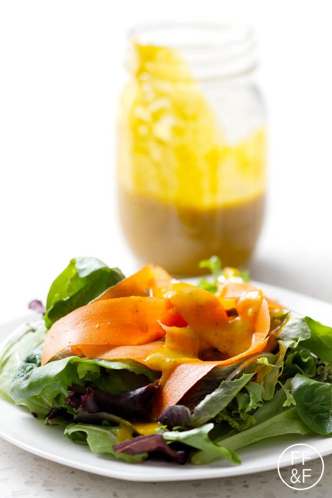I'm not a fan of super sweet salad dressings but I like this Pumpkin Maple Vinaigrette. The maple syrup adds just a little bit of sweetness. Not sugary sweet just natural pumpkin sweet. It's a great balance between sweet and savory.
