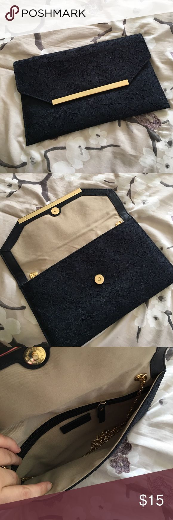 The Limited Navy Clutch NWOT Brand new and never used! Non smoking and pet free home! The Limited Bags Clutches & Wristlets