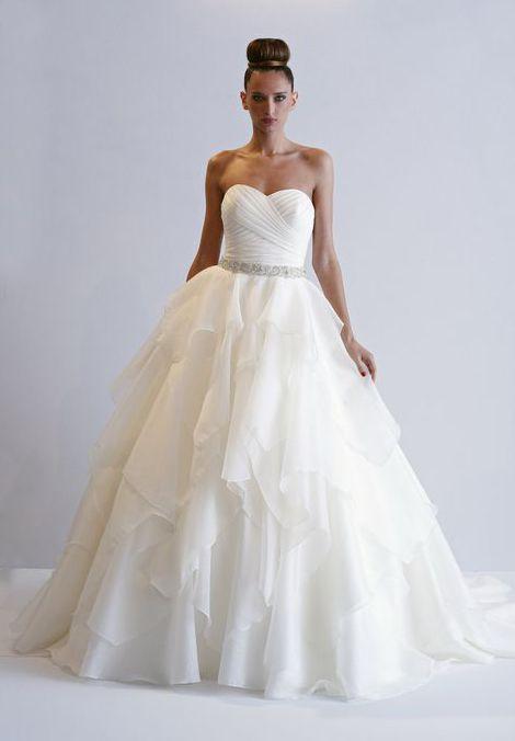 Alita Graham A-Line Wedding Dress with Sweetheart Neckline and Natural Waist Waistline